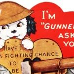 Vintage World War 2 Themed Valentine's Day Card