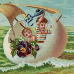 Another Victorian Era Easter Eggshell Boat Illustration
