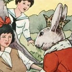 Vintage Children's Book Easter Illustration
