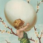 Victorian Easter Cherub Card