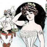 Beautiful 1900's Vintage Women's Corset Ad Artwork