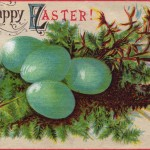 Vintage Happy Easter Postcard
