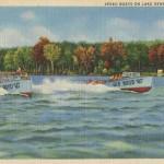 Vintage Boating Postcard from Lake Geneva, Wisconsin