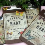 Crafting with Vintage Printables – Decoupaged Clipboards