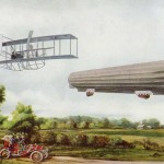 Vintage Steampunk Flying Machines from an Antique Book Plate