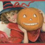 Gorgeous Vintage Halloween Postcard to Print