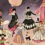 Beautiful Art Deco Era Vintage Halloween Costume Illustrations