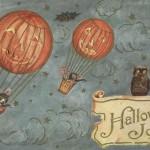 Early 1900's Printable Vintage Halloween Postcard – Jack o' Lantern Balloons