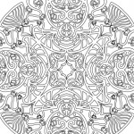 Free Art Nouveau Mandala Coloring Page