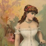 Gorgeous Late 1800's Worcester Corset Company Advertising Art