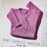 Vintage Knitting Pattern for a Baby Wrap Sweater